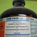 هیدروکلریک اسید ( کلریدریک اسید ) گازی مرک آلمان کد 100317