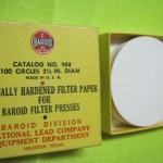 کاغذ صافی فیلترپرس 2.5 اینچ باروید امریکا